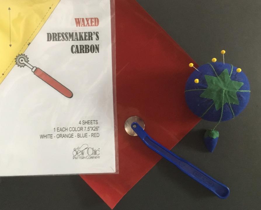 Dressmakers Carbon Paper 5 Coloured Sheets